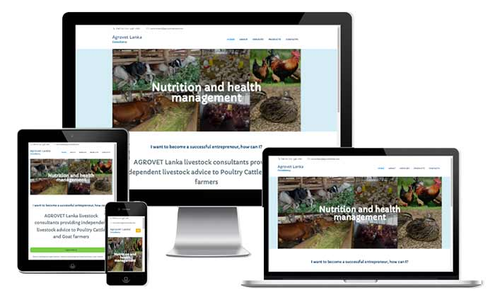 Profile Website for Agro/Vet Consultant