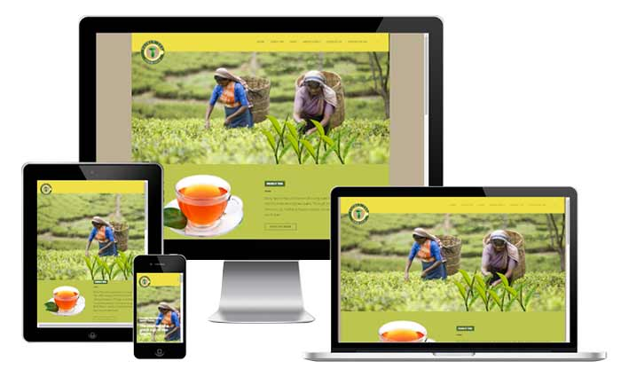 Corporate Website for Tea Export Company