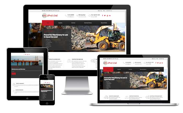 Corporate Website for Equipment and Machinery Suppliers