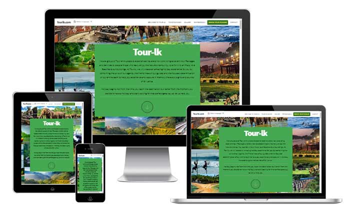 Brochure Website for Inbound Tour Operators in Sri Lanka